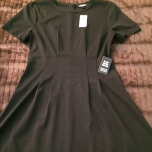 Express Little Black Fit & Flare Dress Small New